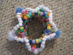 3D Kandi Beaded Bracelet Cuff - Multicolor. $8.00, via Etsy.