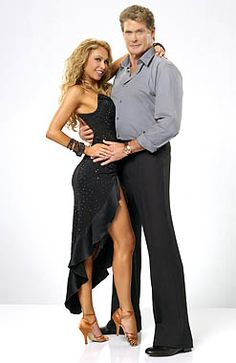 Kym Johnson & David Hasselhoff's promo photo.