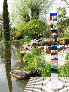 Glasobjekte Garten
