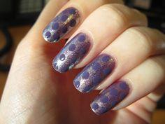 dots, dotting, nails, nail art tutorial, rival de loop, violet