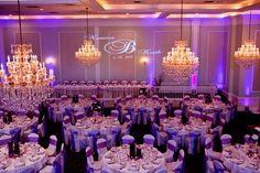 lavender uplighting | Purple Uplighting at Lucien's Nouvelle ballroom