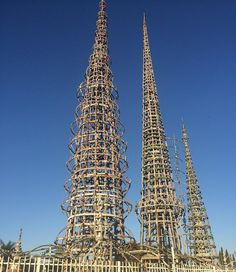 watts towers south central. in case you think the hood has no culture #art by ceesando