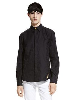Chemise Jacquard Lion Homme Chic, Chemise Homme, T Shirt, Chemises Versace,  Versace cded42462ad