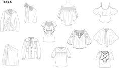 Ассортимент швейных изделий. Техничексие рисунки – 24 фотографии