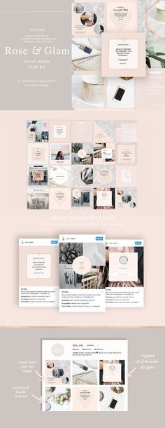 Feminine Social Media Templates by Laras Wonderland on @creativemarket