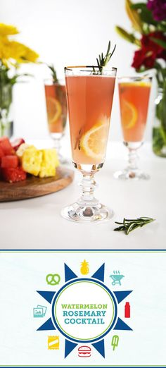 Bring on the flavor with this delicious Sparkling Watermelon Rosemary Cocktail recipe! Made with Simply Lemonade®, homemade simple syrup, watermelon juice, gin, prosecco, and fresh citrus, this refreshing drink is the perfect complement to your summer party. To start off your fresh summer meal idea right, pick up a colorful fruit tray from Sam's Club to complete the menu!