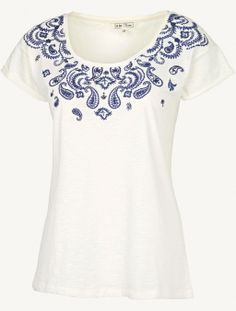Paisley Placement T-Shirt