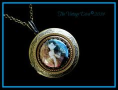 Vintage Style 1920's Woman Long Cameo Locket Pendant Necklace | TheVintageDiva - Jewelry on ArtFire