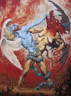 Johfra Bosschart - The Struggle Between Good and Evil Arte Horror, Horror Art, Religion, Satanic Art, Esoteric Art, Psy Art, Demon Art, Occult Art, Arte Pop