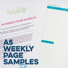 Weekly Layout Samples – Limelife Planners