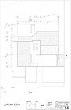 Casa Concreto,Planta de cubierta