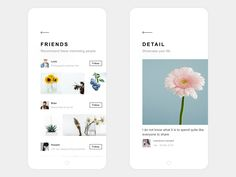 My Life App Design Friends & Detail - via @designhuntapp