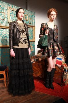 love the balance of feminine and grunge.    Alice + Olivia by Stacy Bendet F13