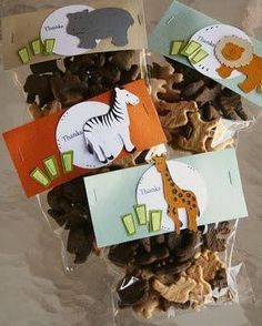 Cute animal treats for students...Wild about learning!  Love this for teaching animals in Science