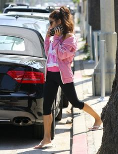 Vanessa Hudgens in tights, at a Pilate Class in Studio City on May 15, 2013