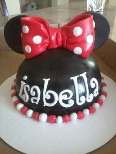 Minnie Mouse smash cake out of Fondant.