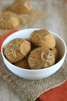Pumpkin Donut Holes with Sunbutter Caramel Drizzle (grain-free, dairy-free, refined sugar-free)
