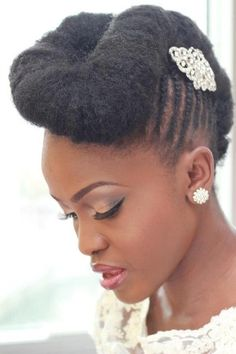 natural wedding braided updo for brides
