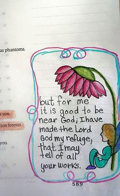 be near to God   Bible Journaling