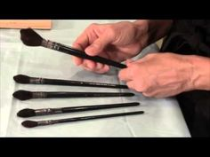"""""""Silk Painting Brushes""""; advice on which brushes are best to use, plus a few tips. September 2014 video blog, Pamela Glose. www.MySilkArt.com"""