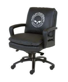 Harley-Davidson® Executive Mid-Back Swivel-Tilt Chair HD-930-STG