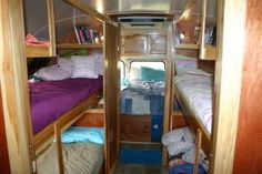 "Comfortable sleeping for six, plus a huge ""garage"" for storage under the queen-sized bed."