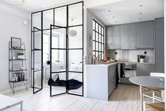 Would love for my studio to look like this! -- A Tiny Stockholm Apartment Makes the Most of 400 Square Feet