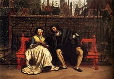 Маргарита и Фауст в саду. Дж. Тиссо.