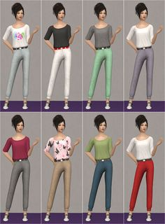 Veranka's TS2 Downloads | Cuffed Pants Slouchy Top AF + TF DOWNLOAD for AF ...