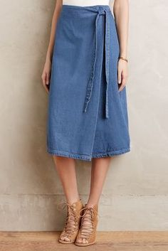 The Fifth Fornea Denim Wrap Skirt