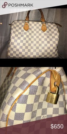 b64734b57bf5 Louis Vuitton Speedy 30 Louis Vuitton Speedy 30 - (Damier Azur Canvas) -