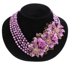 Stanley Hagler Costume Jewelry Beaded Necklace