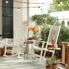 Sutherland Rocking Chair | Ideal for relaxing on warm sunny days, this rocking chair features a traditional design and hardwood construction.