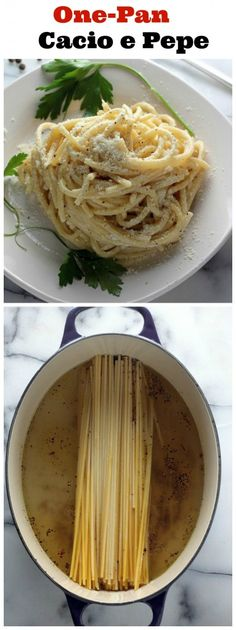 One-Pan Creamy Parmesan Pasta! Only 4 Simple Ingredients. We make this every week!