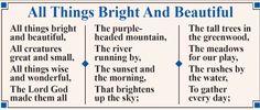 Lyrics to the popular hymn