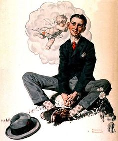 Norman Rockwell Paintings Gallery in Chronological Order Norman Rockwell Prints, Norman Rockwell Paintings, Illustrations Vintage, Illustration Art, Peintures Norman Rockwell, Anime Comics, The Saturdays, Vintage Posters, Vintage Art