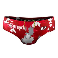Canada Classic Brief. Show off your Canadian pride with our Canada Classic Brief. #qswimwear #swimsuit