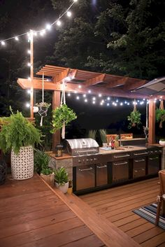 Whether you're interested in the creating the great outdoor kitchen design, outdoor bar, outdoor bbq, outdoor pizza oven or each of the above, we're here to help design the ideal space … Modern Outdoor Kitchen, Outdoor Kitchen Bars, Backyard Kitchen, Backyard Patio, Backyard Landscaping, Summer Kitchen, Porch Kitchen Ideas, Landscaping Ideas, Small Backyard Decks