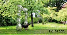 Reflektor-Hundetuch mit Blumenmuster. Sonntags-Tuch.