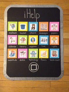 job chart for the 21st century! love for special helper job requirements