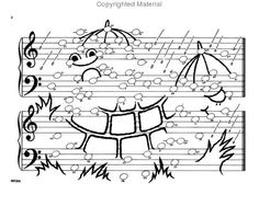 Note Pictures: A Coloring Note Speller Sheet Music by Jane