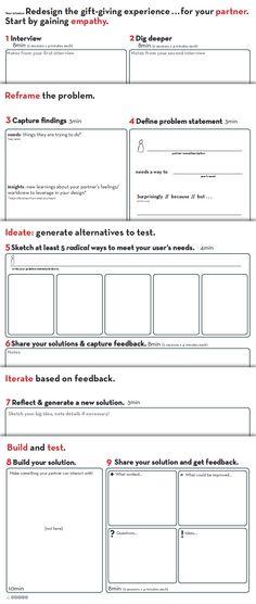 Worksheet | provided by D.School Stanford http://dschool.stanford.edu/dgift/