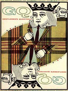 KP. GQ - February 1963 - Playing card  i am the plaid king!
