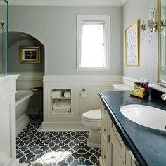 Wainscoting Bathroom, Eclectic, bathroom, laser cut tiles