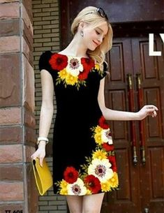 Hand Painted Dress, Painted Clothes, Casual Dresses, Fashion Dresses, Summer Dresses, Dress Painting, Kurti Designs Party Wear, Embroidered Clothes, Clothing Labels