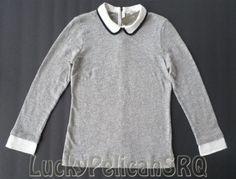 J.Crew Peter Pan Collar Knit Top Size XL NWT