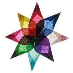 Multi color star I have made from thin paper