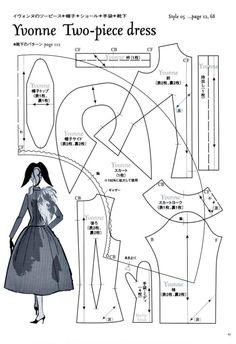 Yvonne Two-Piece Dress Pattern - Page 1 of 3