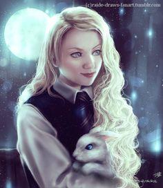 raide-draws-fanart: ArtRage painting of Luna...