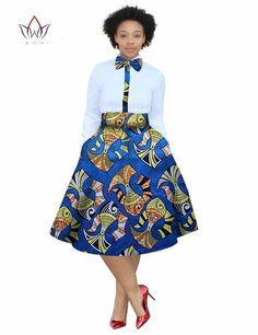 2017 christmas dress Plus Size 2 Pieces African Print Dashiki Shirt Skirt Set Bazin Rche Femme Africa Clothing natural African Shirt Dress, African Print Skirt, African Shirts, Latest African Fashion Dresses, African Dresses For Women, African Print Dresses, African Print Fashion, Africa Fashion, African Attire
